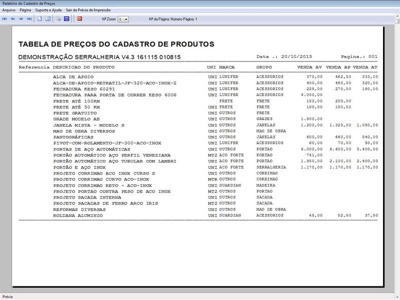 Imagem do Programa Serralheria, Agendamento e Financeiro 4.3 Plus