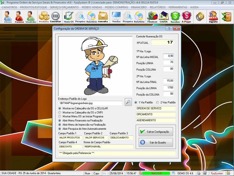 Programa Ordem de Serviço Geral v4.6 - FpqSystem e Virtual Programas