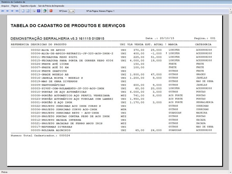 Imagem do Programa Serralheria, Agendamento e Financeiro 5.3 Plus