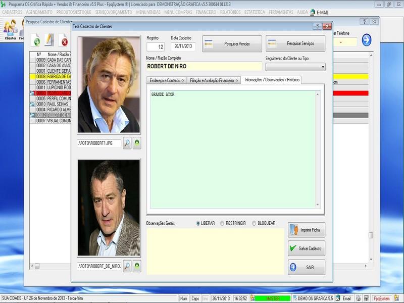 Imagens do Programa Grafica 5.5