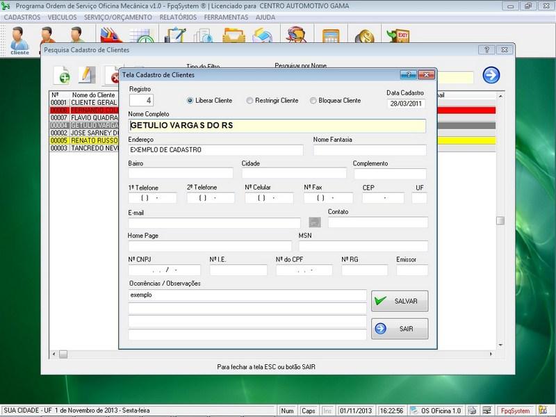 Programa para oficina mec nica v1 0 for Programas para oficina